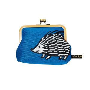 LISA LARSON(リサラーソン) がま口 ポーチ ゴブラン織り ハリネズミ(KUCHIGANE POUCH gobelins hedgehog)|arenot
