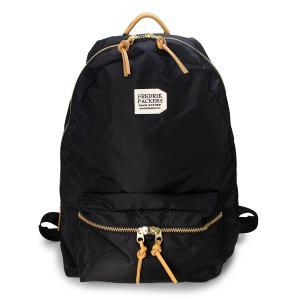 FREDRIK PACKERS(フレドリックパッカーズ) 420D デイパック リュック ブラック(420D DAYPACK black)|arenot