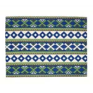 ソーメニーイヤーズ カマル ラグ 50×70 ネイティブ ホワイト/ブルー so many years KAMAL RUG 50×70 native white/blue / おしゃれ|arenot