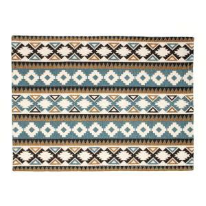 ソーメニーイヤーズ カマル ラグ 50×70 ネイティブ ブルーグレイ/ホワイト so many years KAMAL RUG 50×70 native blue grey/white / おしゃれ|arenot