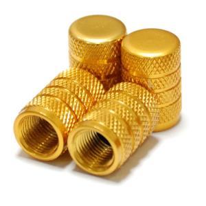 【Areyss】汎用 アルミエアバルブキャップ 円筒型 4個セットパッケージ版(金 ゴールド) 140839|areyss-edivision
