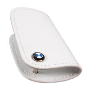 BMW純正部品(US限定) BMW レザーキーケース ホワイト 80230439628