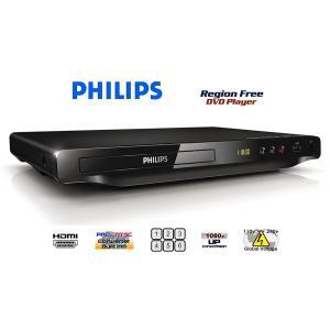 【完全1年保証/3年延長可】 PHILIPS フィリップス DVP-3690K リージョンフリーDVDプレーヤー/簡易カラオケ機能/HDMI端子搭載/小型軽量 【特典セット】 海外仕様 areyss-edivision