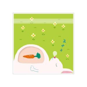 まんぷく ジッパーバッグ ウサギ 5枚入 / 動物柄 可愛い お菓子 お裾分け 小分け 保存袋 ジッ...