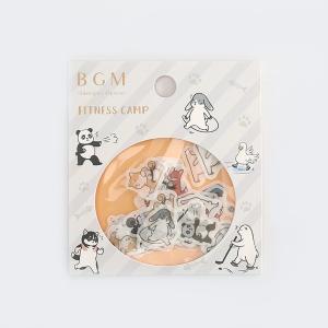 BGM フレークシール 「スポーツアニマルズ」 45枚入 / 可愛い 動物 運動 手帳 日記 デコ ...