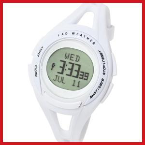 ラドウェザー スポーツウォッチ 超軽量31g 速度や距離 タイムが測れる腕時計 初心者に lad001 ホワイト|ariari