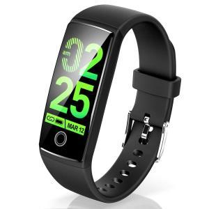 Semiro スマートウォッチ ブラック 防水 iPhone/Android 対応 V10