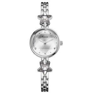 GOHUOS かわいい 腕時計 レディース アナログ ウォッチ 星 宝石 デザイン 女子 クオーツ カジュアル アウトドア (シルバー)|ariari