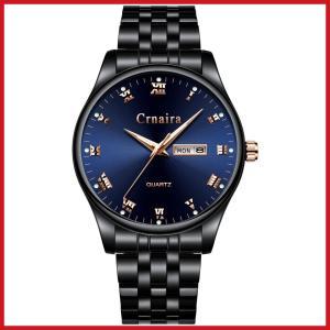 腕時計 メンズ腕時計 シンプル クラシック ファッション 超薄型 ブラック ダークブルー ステンレスストラップ 防水アナログ クォーツ ミニマリスト|ariari