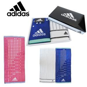 adidas フェイスタオル 2枚入 ギフト 箱入り アディダス フェイスタオル タオル レディース メンズ  ロゴ ブランド おしゃれ  箱 ギフト プレゼント  スポーツ|ariat