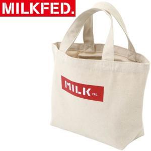 キャンバス素材でナチュラルな風合いが魅力のミニサイズのトートバッグ。 MILKFED.で定番人気のB...
