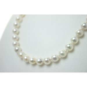 真珠パールネックレス あこや真珠パールネックレス7mm-7.5mmホワイトピンクカラーバロックパールシルバーアコヤ本真珠カジュアル
