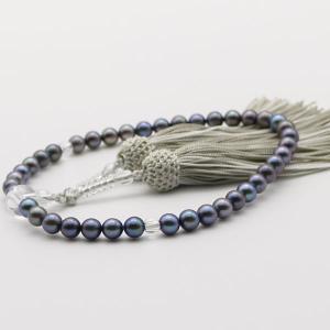 真珠 数珠 パール 念珠 あこや真珠 数珠 6.5mm-7m...