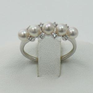 真珠指輪パールリングあこや真珠パールリング指輪4mm-4.5...