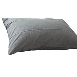 枕カバー 75×50cm(70x50cmも可)無地 チェック柄 ピローケース 8色 (ライトグレー)|aries8