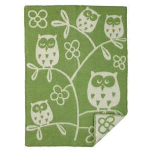 クリッパン ウールミニブランケット 65×90 ツリーオウル フクロウ 2422 Tree Owlグ...