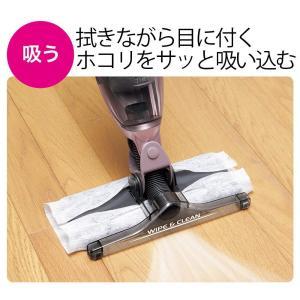 シャープ コードレス スティック型クリーナー ブラック 拭き 掃除機 EC-FW18-B|aries8