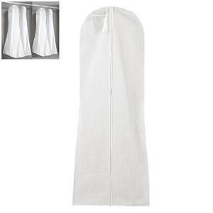 ウェディングドレス カバー 洋服カバー 衣類カバー ドレスガーメントカバー 不織布 ファスナー付き ...
