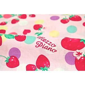 (ソウビエン) メゾピアノ MezzoPiano 浴衣 子供 女の子 単品 ピンク イチゴ ドット ...
