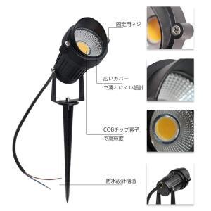 ガーデンライト LightingWill 5W LEDアウトドア 電球色3000K?3500K、防水...