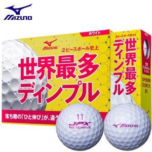 2016年モデル ミズノ JPX NEXDRIVE ネクスドライブ ボール ホワイト×ピンク 1ダース(12球入り) [有賀園ゴルフ] arigaen