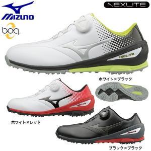2017年モデル ミズノ メンズ NEXLITE ネクスライト 004 Boa スパイクレス ゴルフシューズ 51GM1720|arigaen