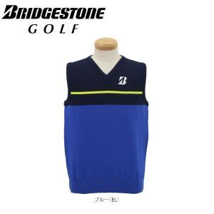 ブリヂストンゴルフ メンズ Vネック ニット ベスト DGM12C [2016年モデル] ゴルフウェア [春夏モデル 63%OFF] 特価 [有賀園ゴルフ]|arigaen