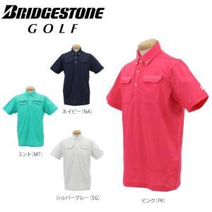 ブリヂストンゴルフ メンズ 高通気 UVカット 半袖 B.D ポロシャツ DGM36A [2016年モデル] ゴルフウェア [春夏モデル 63%OFF] 特価 [有賀園ゴルフ]|arigaen