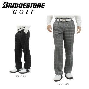 ブリヂストンゴルフ メンズ ツータック ロングパンツ EGM93K [2016年モデル] ゴルフウェア [秋冬モデル 50%OFF] 特価 [裾上げ対応3] [有賀園ゴルフ]|arigaen