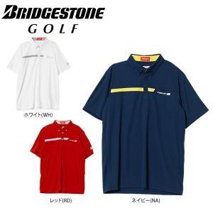 ブリヂストンゴルフ メンズ 半袖 ボタンダウンポロシャツ 3GJ03A [2018年モデル] ゴルフウェア [春夏モデル 60%OFF] 特価 [有賀園ゴルフ]