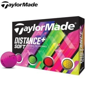 [2019年モデル] テーラーメイド DISTANCE+ SOFT ディスタンス プラス ソフト ネオンカラー ゴルフボール 1ダース(12球入り) [有賀園ゴルフ]
