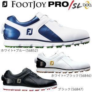 2017年モデル フットジョイ メンズ PRO / SL Boa プロ エス・エル ボア スパイクレス ゴルフシューズ [日本正規品]|arigaen