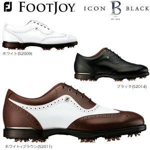 2017年モデル フットジョイ メンズ ICON BLACK アイコン ブラック ソフトスパイク ゴルフシューズ [日本正規品]|arigaen