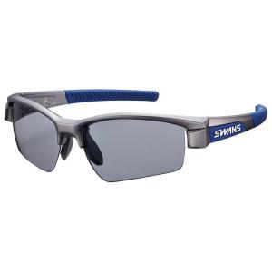 スワンズ スポーツサングラス 偏光レンズモデル LION SIN ライオンシン LI SIN-0151 MGMR マットガンメタリック×ネイビー×ネイビー 有賀園ゴルフの画像