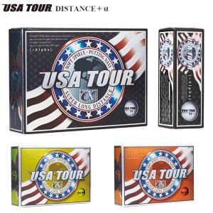 USA TOUR ディスタンス +α ボール 1ダース(12球入り) [有賀園ゴルフ]|arigaen