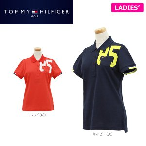 トミー ヒルフィガー ゴルフ レディス 半袖 鹿の子 ポロシャツ THLA708 ゴルフウェア [2017年春夏モデル 30%OFF] バーゲン|arigaen