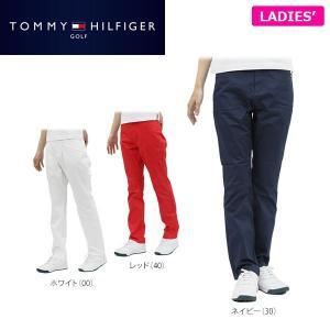 トミー ヒルフィガー ゴルフ レディス ツイル ロングパンツ THLA711 ゴルフウェア [2017年春夏モデル 30%OFF]  [裾上げ対応1] [有賀園ゴルフ]|arigaen
