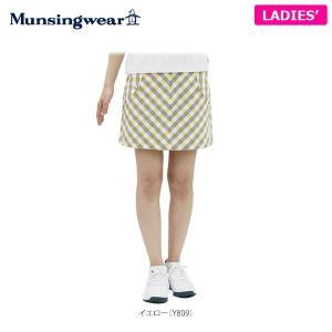 マンシングウェア レディス ギンガムチェック スカート RL7027 [2016年モデル] ゴルフウェア [春夏モデル 60%OFF] 特価 [有賀園ゴルフ]|arigaen