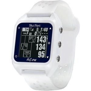 ショットナビ 腕時計型GPSゴルフナビ Shot Navi HuG-FW ホワイト [有賀園ゴルフ]