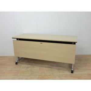 フォールディングテーブル オカムラエレガスタ 幅:1500 奥行:600 高さ:720 カラー:木目調|arigato-ya