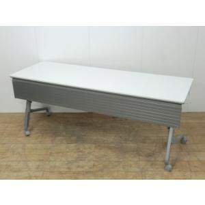 フォールディングテーブル オカムラ ホワイト 幅:1800 奥行:600 高さ:720 カラー:指定なし|arigato-ya