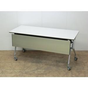 フォールディングテーブル オカムラ フラプター ホワイト 幅:1500 奥行:600 高さ:720 カラー:ホワイト|arigato-ya
