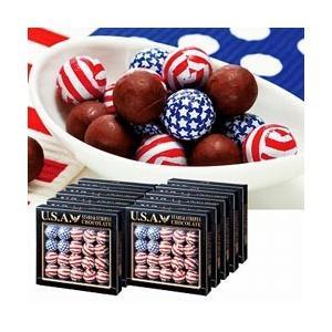 アメリカン フラッグボールチョコレート 10箱セット(海外 アメリカ お土産 おみやげ 土産 みやげ)