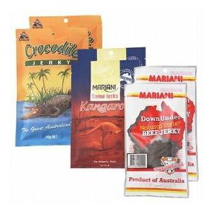 オーストラリア ご当地ジャーキー 3種6袋セット(ビーフ、カンガルー、クロコダイル)(オーストラリア お土産 オーストラリア 土産)|arigatou-nuts
