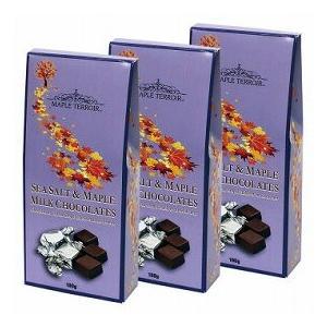 カナディアン シーソルト&メープルシロップチョコレート 3箱セット(カナダ お土産 カナダ 土産) 通販 arigatou-nuts