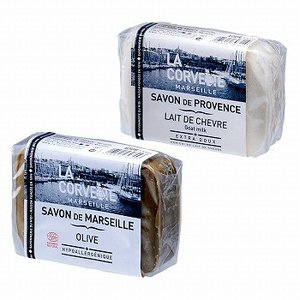 フランス お土産 土産 おみやげ マルセイユ石けん 2種セット オリーブ&ゴートミルク  通販|arigatou-nuts