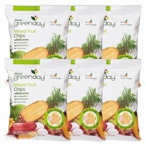 タイ お土産 土産 おみやげ greenday (グリーンディ) ミックスフルーツチップス 6袋セット 通販|arigatou-nuts