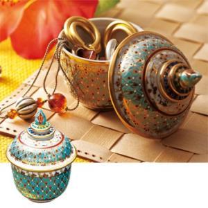 タイ お土産 土産 おみやげ ベンジャロン焼き 小物入れ 通販|arigatou-nuts