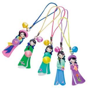 ベトナム お土産 土産 おみやげ アオザイ人形ストラップ 5個 通販|arigatou-nuts