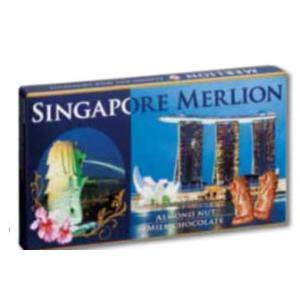シンガポール お土産 土産 おみやげ シンガポール マーライオンアーモンドチョコレート 通販|arigatou-nuts
